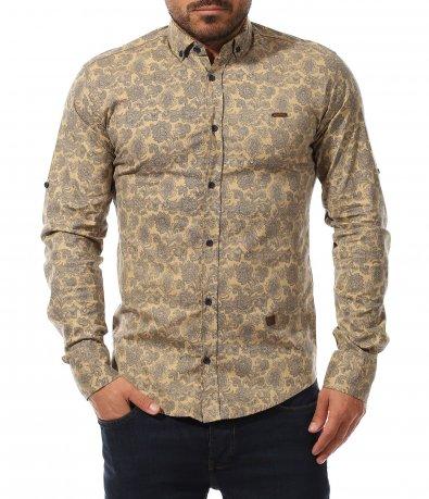 Slim Fit риза с флорален мотив 11029