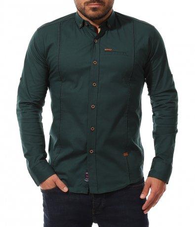 Семпла риза в зелен цвят 11030