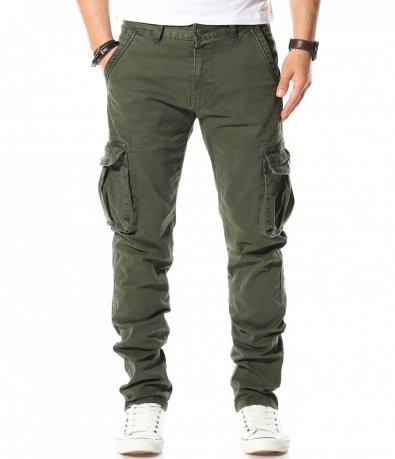 Карго панталон с външни задни джобове 11033