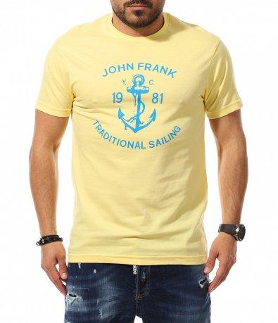 Тениска с апликация с котва 11056