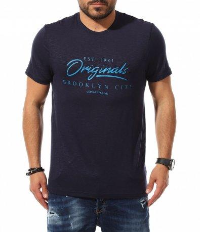 Тениска с акцентиращ надпис 11059