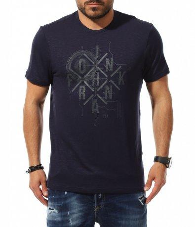Тъмна тениска с надписи 11060