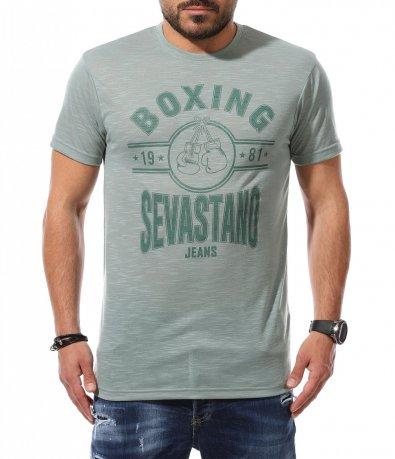 Тениска в модерен цвят 11038