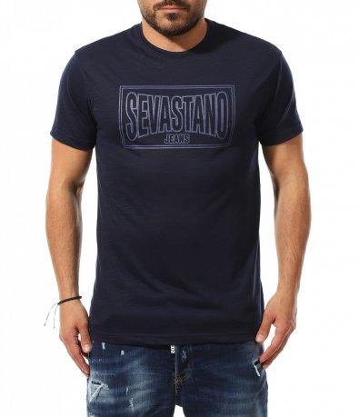 Семпла тениска с апликация 11040