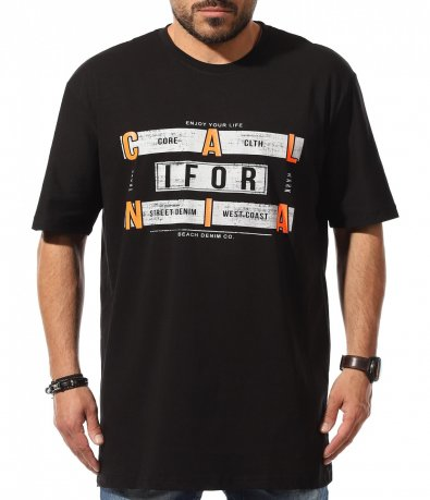 Черна тениска големи размери 11045