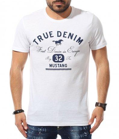 Тениска с апликация с надписи 11077