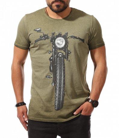 Хитова тениска с апликация мотор 10697