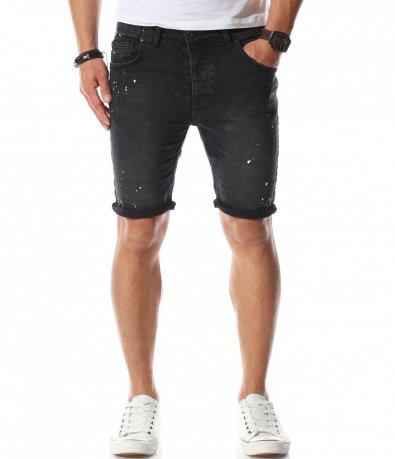 Къси дънки в черен цвят 11094