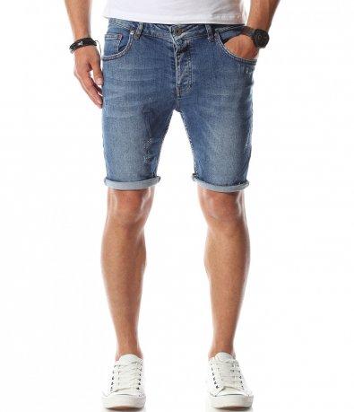 Светло сини къси джинси 11095