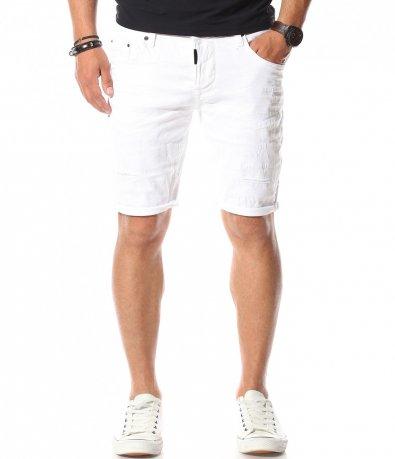 Къси дънкови панталони в бяло 11107