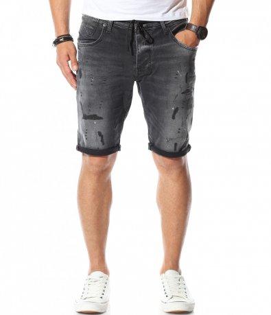 Еластичен дънков панталон 11115