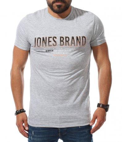 Тениска с надпис Jones Brand 11139
