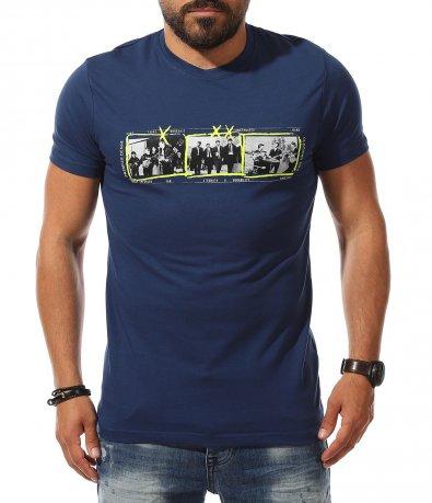 Вталена тениска с апликация 11143