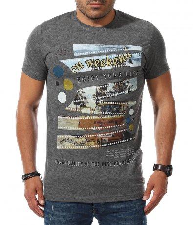 Свежа тениска с апликация 11151