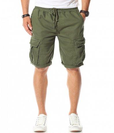 Къси панталони в наситен цвят 11188