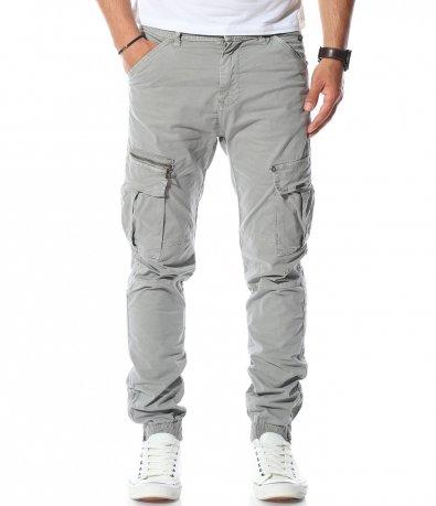 Светло сив карго панталон 11191