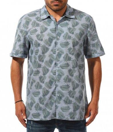 Лятна риза с къс ръкав 11214