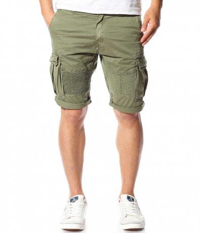Къси карго панталони в  зелен цвят 11217