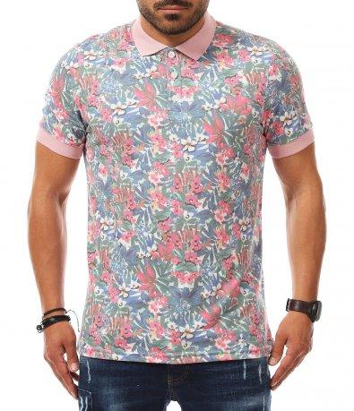 Летен shirt с цветна основа 11225