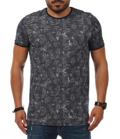 Casual тениска със ситно райе 11234