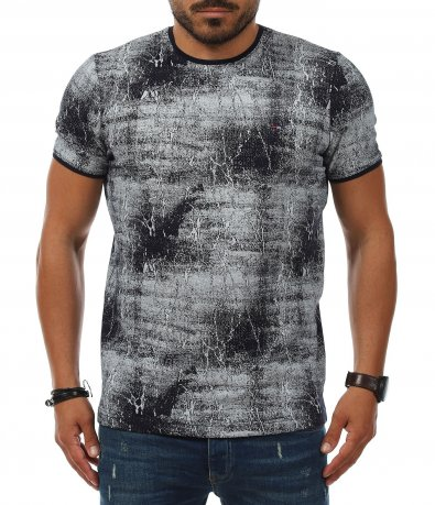 Slim Fit тениска с цялостен десен 11239