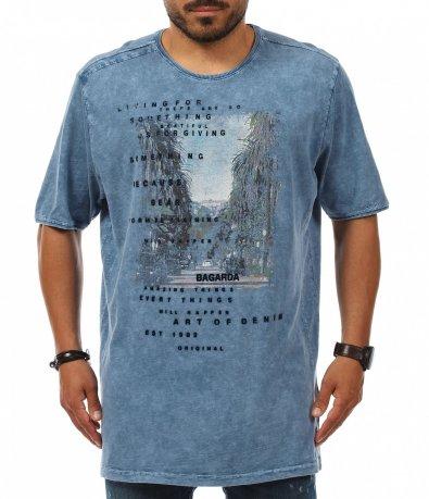 Ежедневна памучна тениска с щампа 11240