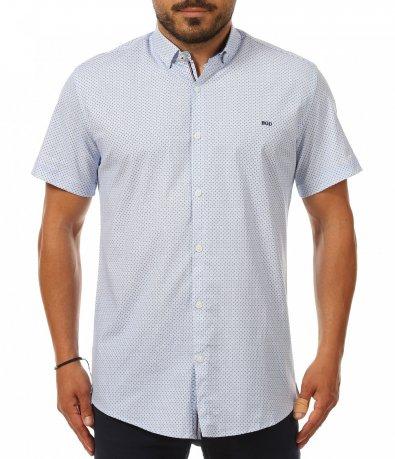 Елегантна бяла риза с къс ръкав 11248