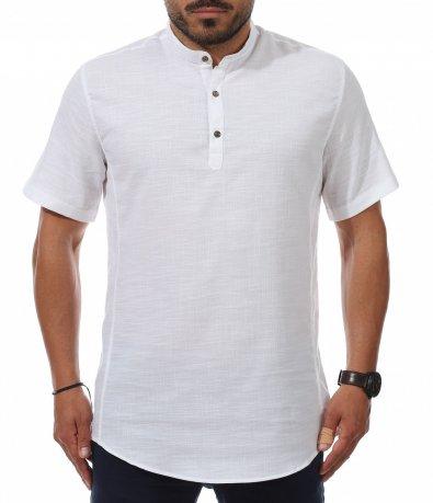 Casual риза с къс ръкав 11244