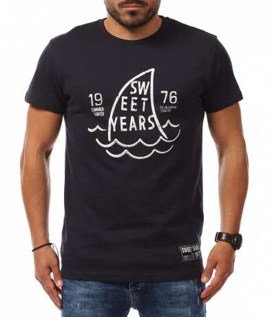 Вталена тениска с надпис Sweet Years 11253