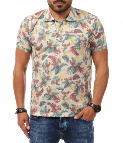Поло тениска във vintage стил 11265