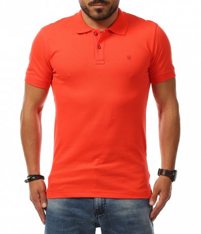 Еднотонна блузка с яка 11277