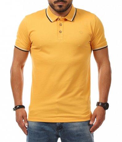 Спортно елегантна тениска с якичка 11278