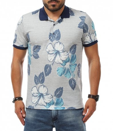 Лятна тениска с якичка 11282
