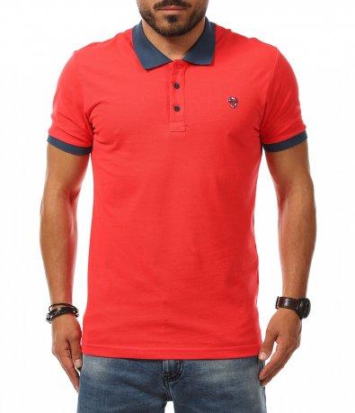 Polo shirt в цвят корал 11286