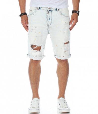 Бледо сини къси дънки 11291