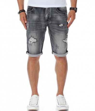 Сиви дънкови панталонки 11289