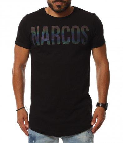 T-shirt с преливащ надпис Narcos 11300