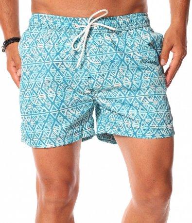 Светло сини бански тип шорти 11315