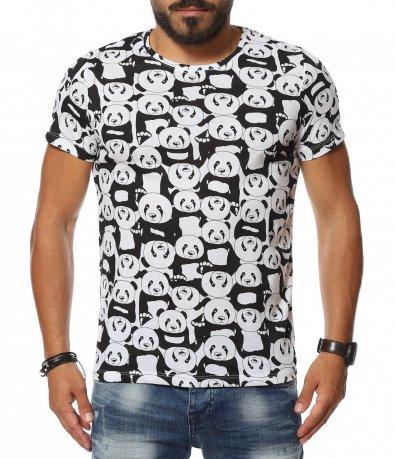 Тениска с аванграден принт 11364