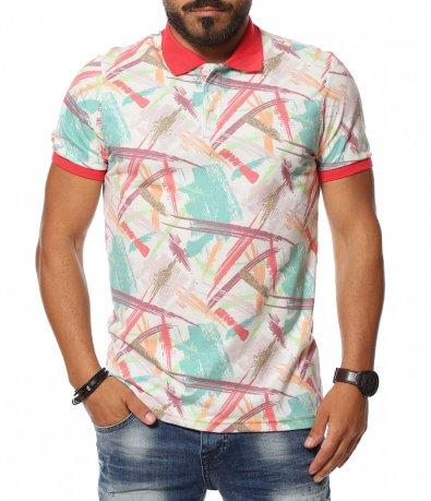 Поло тениска с артистична декорация 11373