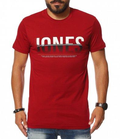 Силно еластична тениска с надпис 11377