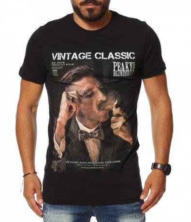 Традиционна тениска с щампа 11374