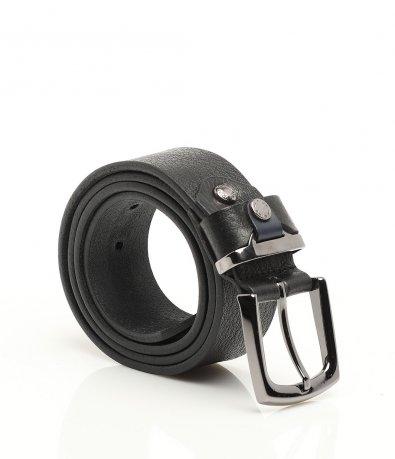 Черен колан с метална гайка 11387