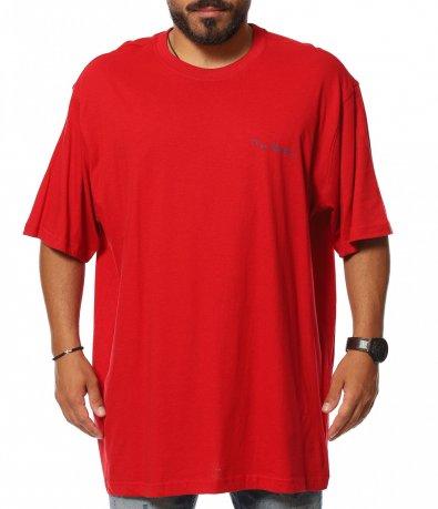 Едноцветна тениска с лого  11347