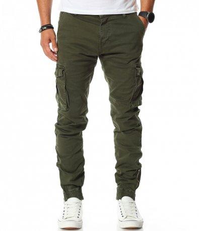 Ежедневен карго панталон с ластик 11395