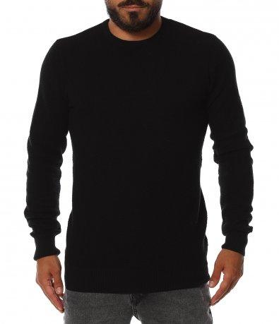 Едноцветен тънък пуловер 11402