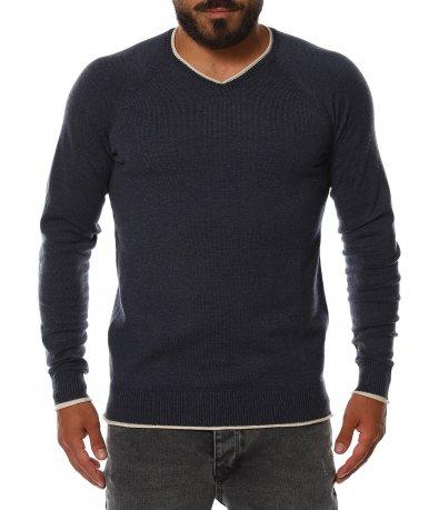 Моден пуловер от фино плетиво 11403