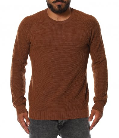 Еднотонен пуловер 11401