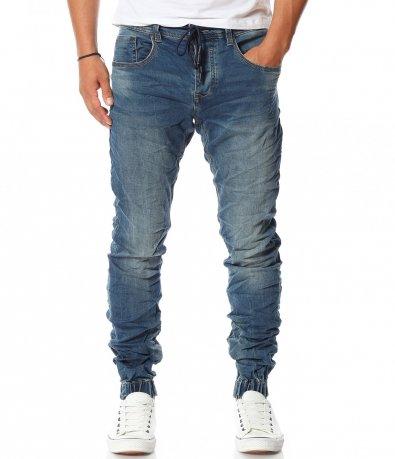 Спортен  дънков панталон 11479