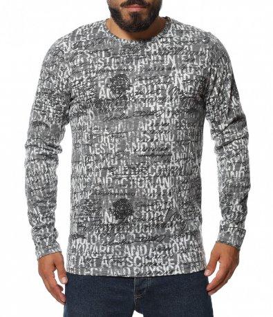 Ежедневна блуза с надписи 11510